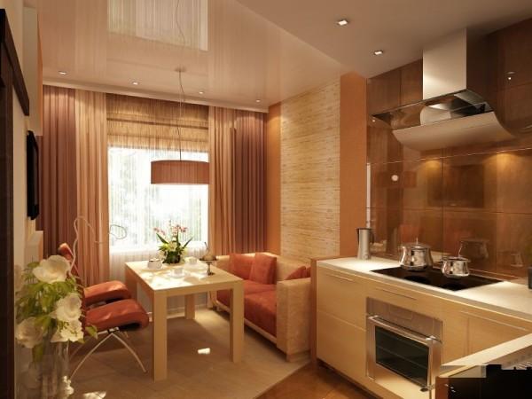 Диван и кухонные стулья в одном стиле