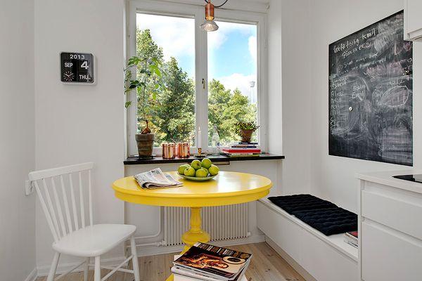 Диван-скамейка на кухне