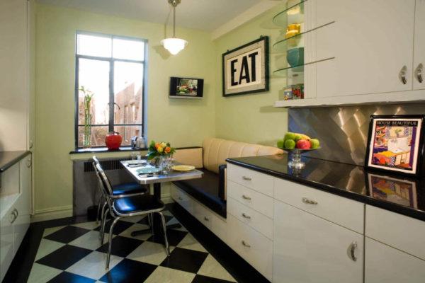 Диван как часть кухонного гарнитура